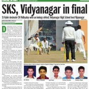 GREAT WIN FOR ST. KABIR - U-19 CRICKET