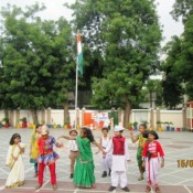 Patriotism at its peak at St.Kabir, Navrangpura on Independence day