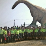 KABIRIANS WERE THRILLED TO VISIT INDIA'S JURASSIC PARK' -THE DINOSAUR FOSSIL PARK…..  (DRIVE IN NEW)