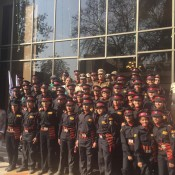 KABIRIAN SCOUTS PROUDLY PARADED WITH THE HOME GUARDS