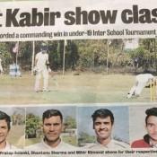 St Kabir Wins U-19 Cricket