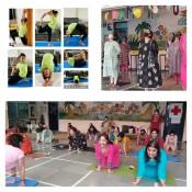 7TH INTERNATIONAL YOGA DAY CELEBRATED AT ST. KABIR SCHOOL